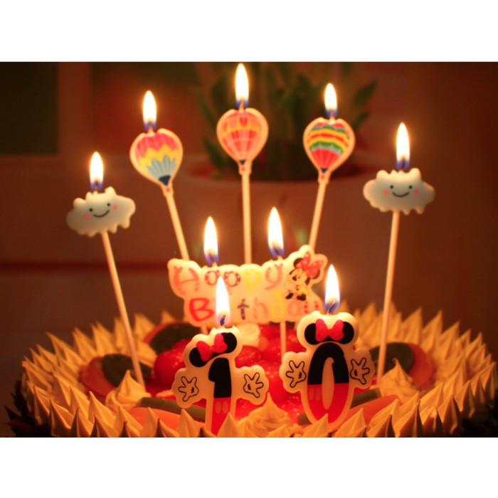 Lilin Kue Ulang Tahun Karakter Unik Lucu Cute Bagus Korea Tart Candle Shopee Indonesia