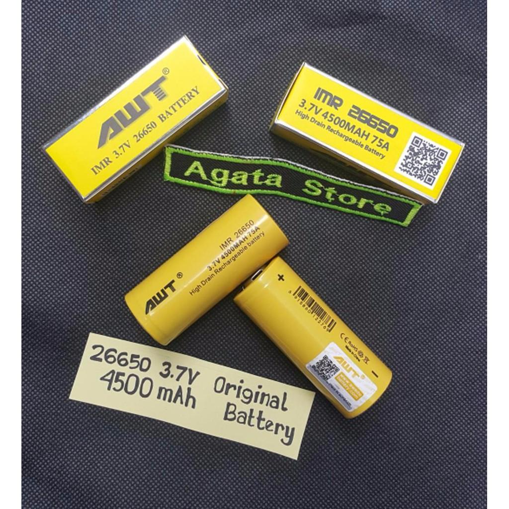Baterai Vapor AWT 3000 mAh 40A 18650 3 7V Original Batre Rokok Elektrik Battery Vapor |