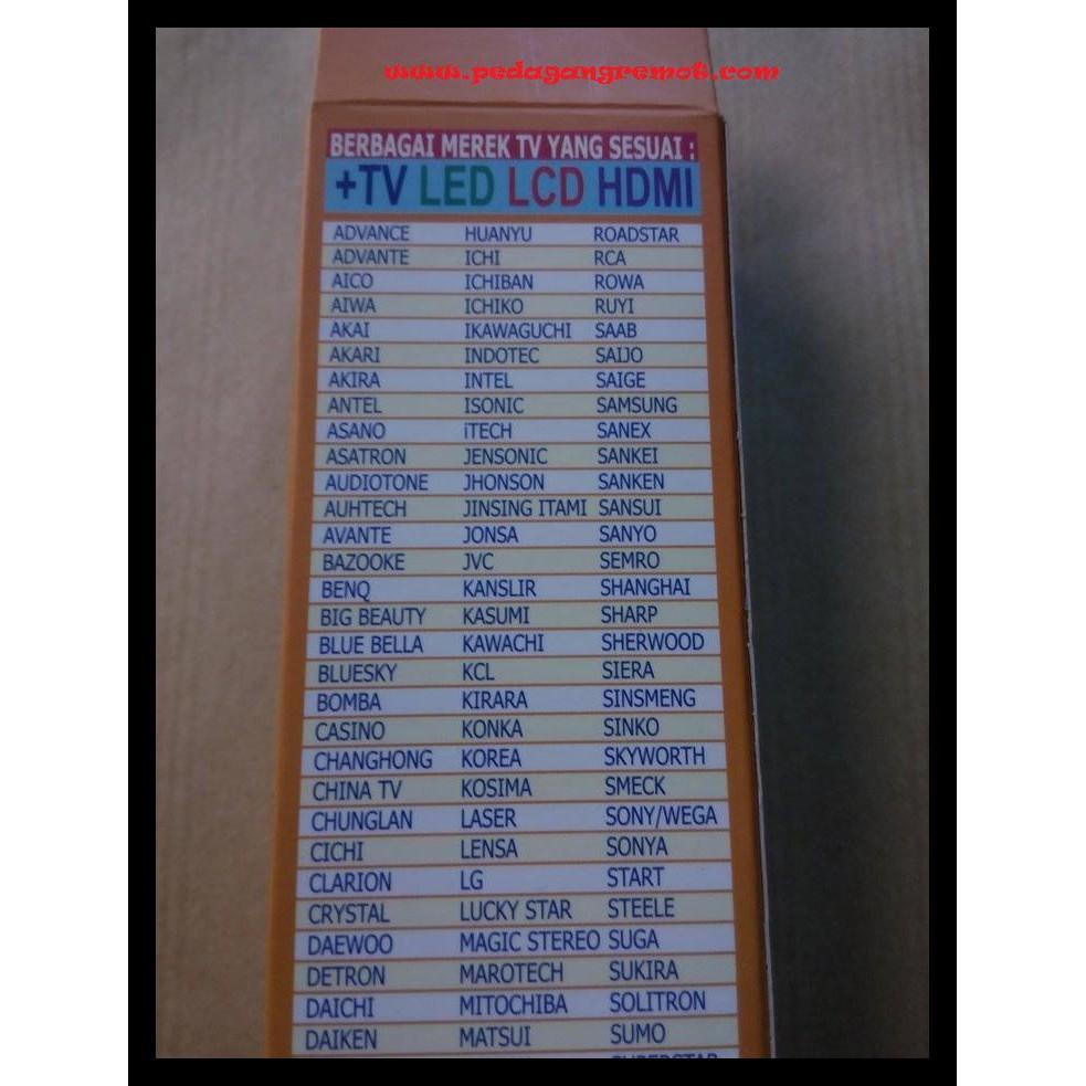 Remot Remote Tv Multi Universal Joker Kode 516 Shopee Indonesia