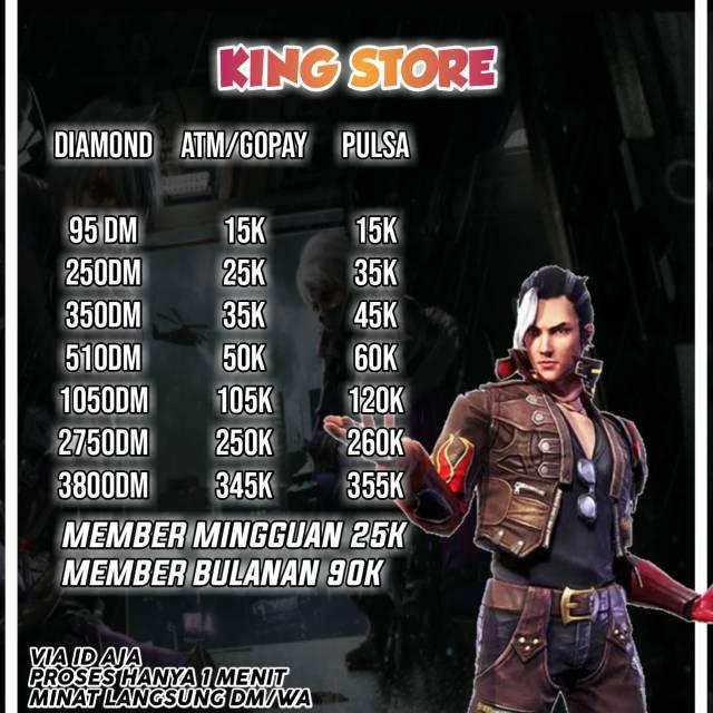 Promo Diamond Free Fire Garena Via Id Shopee Indonesia