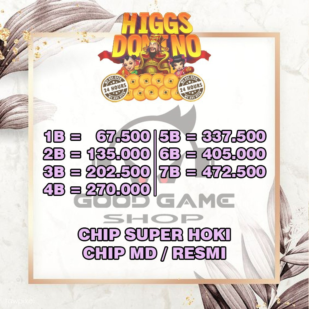 TOP UP CHIP KOIN DOMINO HIGGS ISLAND 1B - CHIP KOIN DOMINO HIGGS ISLAND - CHIP HIGGS DOMINO MD /UNGU
