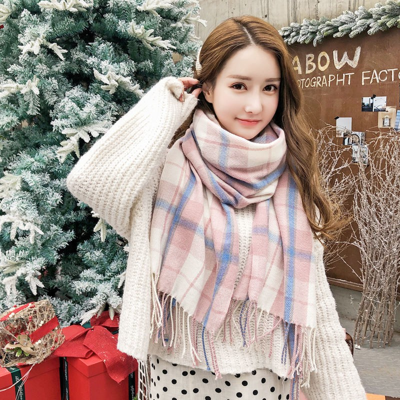 Qiu Dong Syal Wanita Bahan Cashmere Imitasi Untuk Musim Dingin Shopee Indonesia