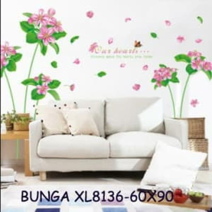 AM7110 WHITE FANCE N FLOWER wallsticker wall sticker stiker dinding WS1 | Shopee Indonesia