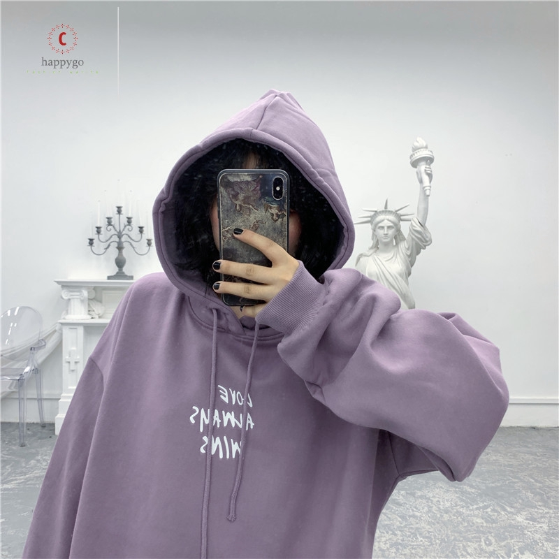Wanita Korea Longgar Surat Cetak Sweater Kasual Kartun Dicetak Sweater Korea Shopee Indonesia