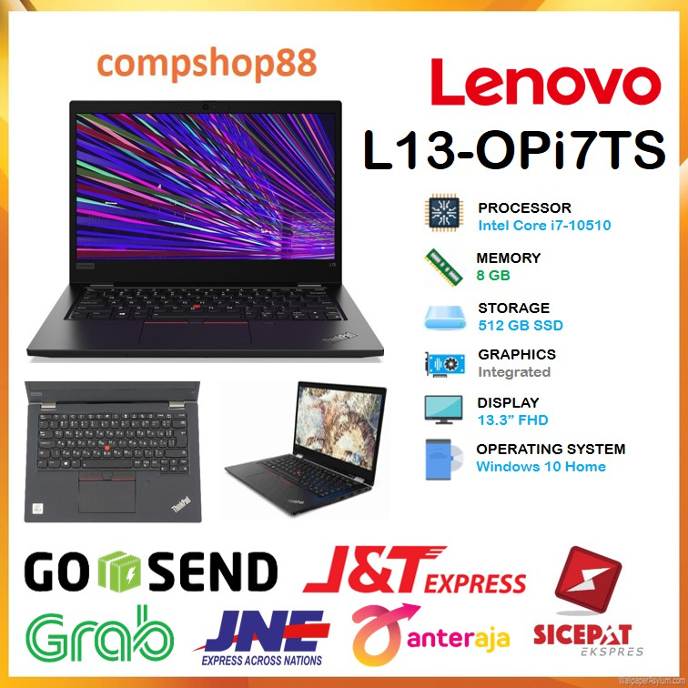 Laptop Lenovo Thinkpad L13 Opi7ts Touch I7 10510 8gb 512ssd 13 3fhd W10 3yr Black Shopee Indonesia