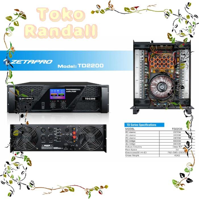Power Ampli Amplifier Zetapro TD2200 TD-2200 Class TD Kualitas Bagus