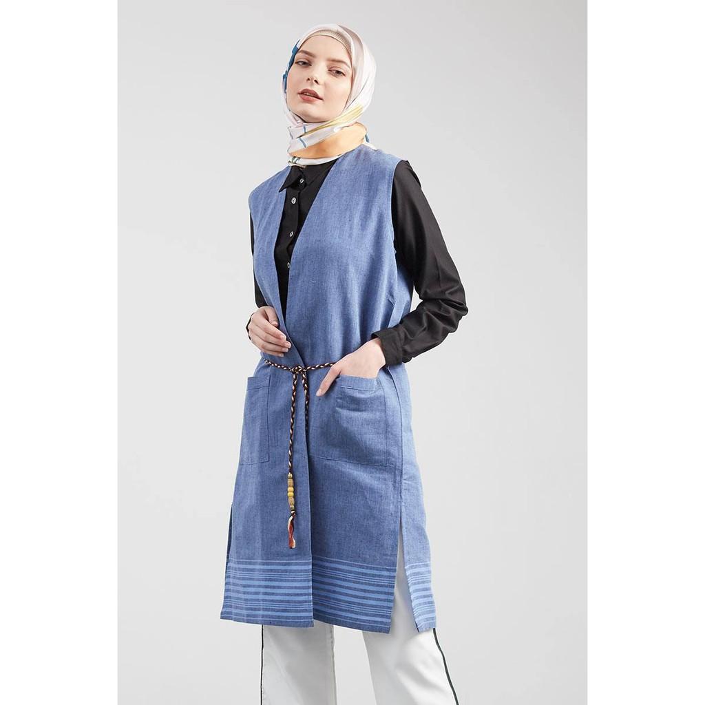 Irfa Outer Blue By Havva Hijabenka Shopee Indonesia