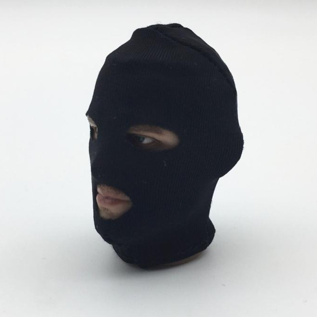 1:6 Scale Male Face Mask Headgear for 12inch Action Figure Accessories