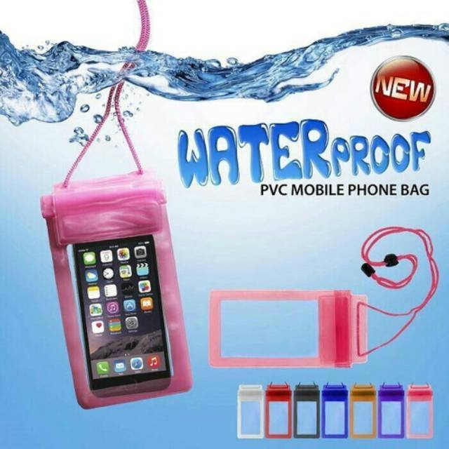 SARUNG HP WATERPROOF COVER HANDPHONE IPHONE ANDROID ANTI AIR | Shopee Indonesia