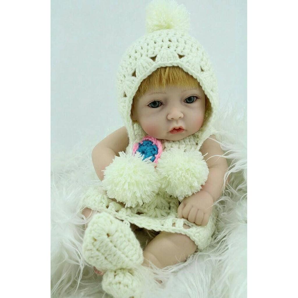 BO- BONEKA SILIKON 10 INCH MINI BABY REBORN GIRL FULL BODY SILICONE Limited