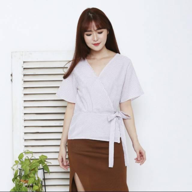 Blouse Atasan Wanita Kimono Rose Maxmara Baju Cewek Fashion - Daftar ... 5ce6597b89