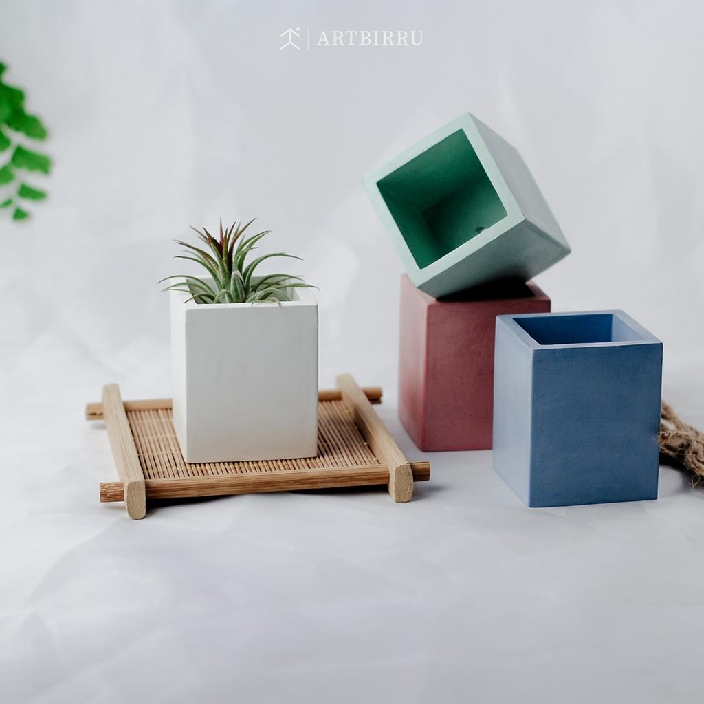 Afra Concrete Pot Mini Semen Dekorasi Aesthetic Untuk Tanaman Kaktus Sukulen Atau Vas Bunga Shopee Indonesia