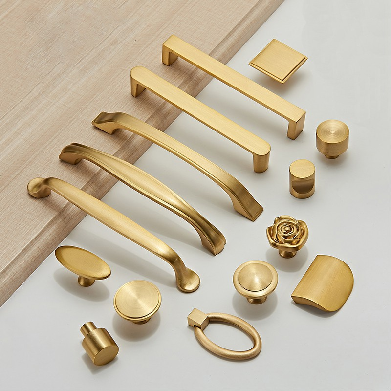 Berbagai Gaya Solid Brass Cabinet Knob Dan Handle Lemari Lemari Emas Knob Shopee Indonesia
