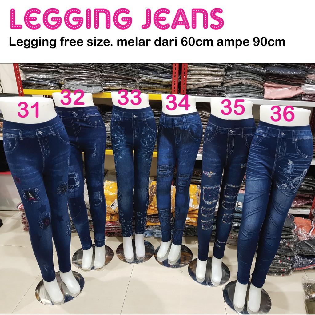Legging Jeans Wanita Motif 1 39 Legging Jeans Import Legging Wanita Panjang Shopee Indonesia