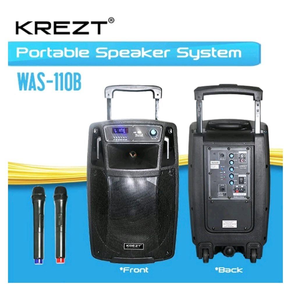 KREZT WAS 110B PORTABLE WIRELESS MEETING SOUND SYSTEM 10 INCH WAS110B | Shopee Indonesia