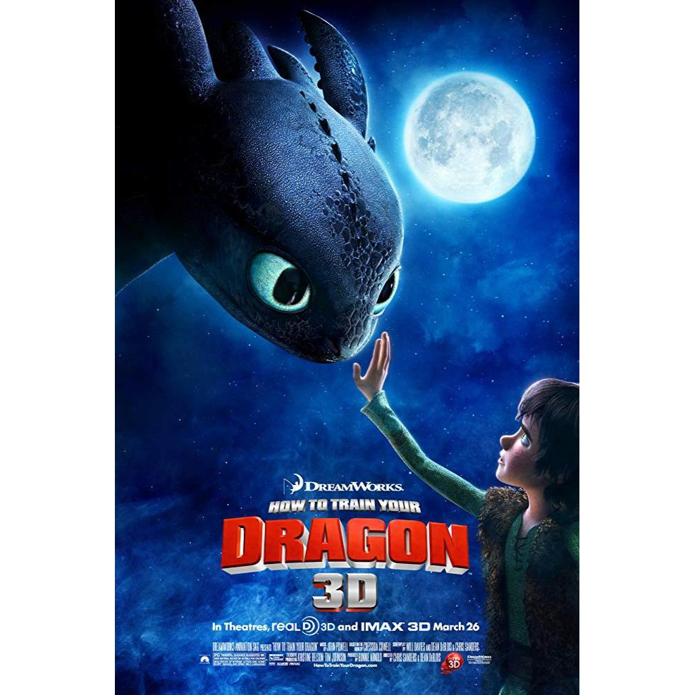 Super Dvd How To Train Your Dragon 2010 Sale Shopee Indonesia