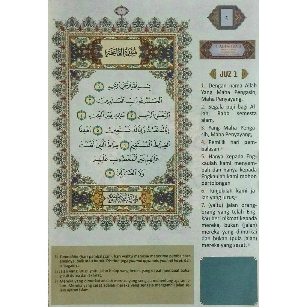 Buku termuarah dan terlaris Alquran Albasair A5, Al-Quran Arab Latin Terjemah, Quran
