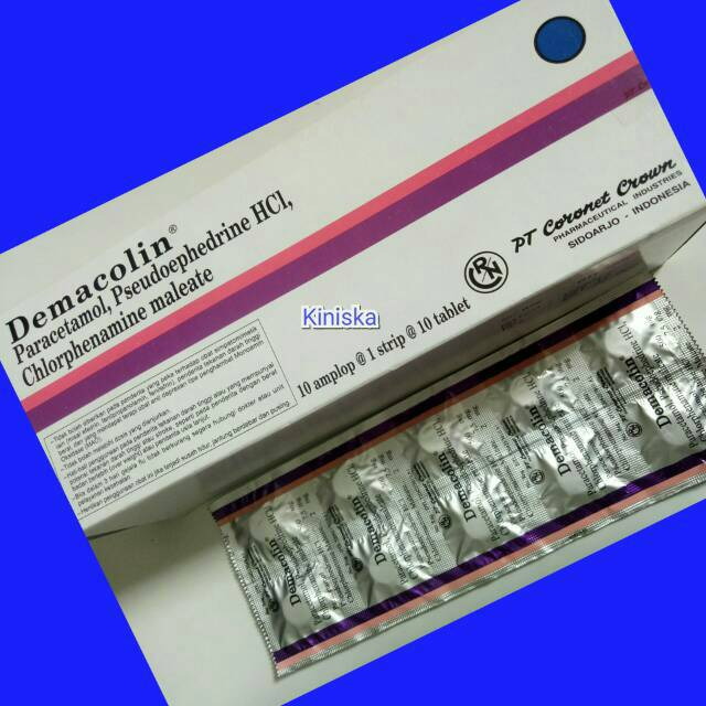 Demacolin Tablet Obat Flu Influenza Demam Pusing Shopee Indonesia