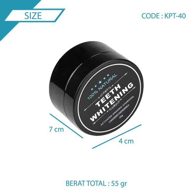 Teeth whitening / pemutih gigi / charcoal powder / teeth whitening