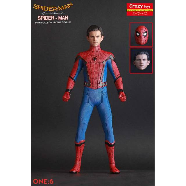 Mainan Action Figure Spiderman Homecoming Crazy Toys New Misb Shopee Indonesia