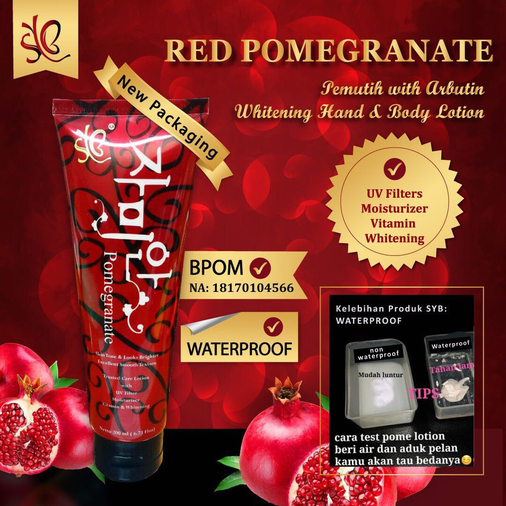 [300gr] REDPOME LOTION SYB ORIGINAL KOREA / RED POME / L-GLUTATHIONE BODY LOTION / LOTION PEMUTIH | Shopee Indonesia