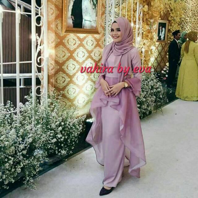 Dress Mermaid Busui Satin Silk Kombi Organza Sutra Shopee Indonesia