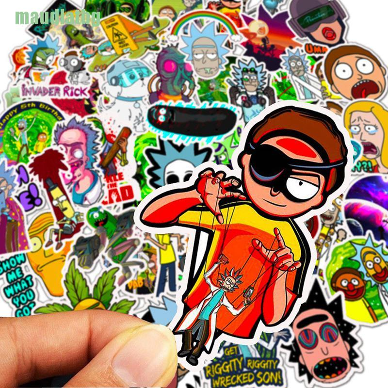 50 pcs American Drama Rick and Morty stickers DIY style Decal for car or Fridge