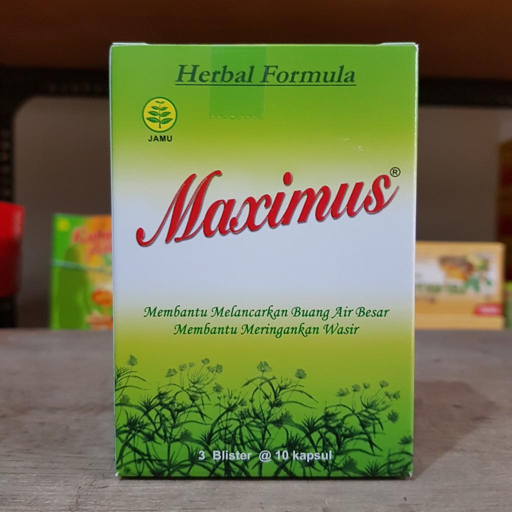 Maximus Dietary Herbal 30s Shopee Indonesia Cor Q 3 Blister 10 Kapsul