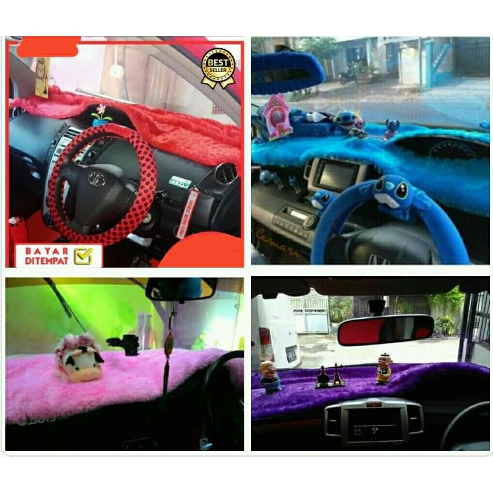Alas Bulu Dashboard Interior Hiasan Accessories Aksesoris Mobil Shopee Indonesia