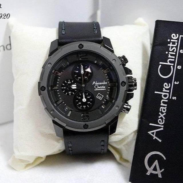 Jam Tangan Alexandre Christie AC 6447 MC Full Black Pria Edisi Sport Original | Shopee Indonesia