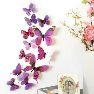 3D Wall Sticker Kupu Kupu butterfly, Hiasan Dinding, Dekorasi Rumah.