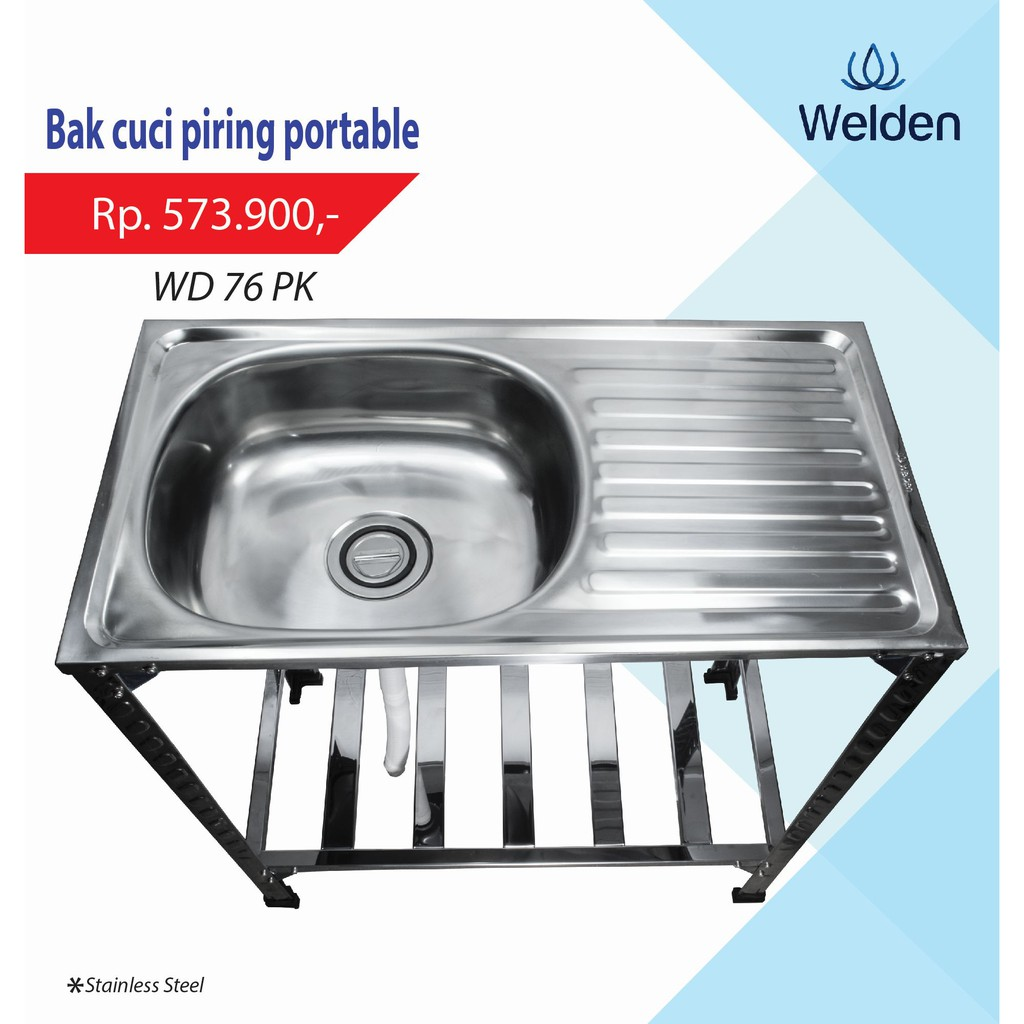 Kitchen sink bolzano 8050 bak cuci piring sus 304 bolzano shopee indonesia