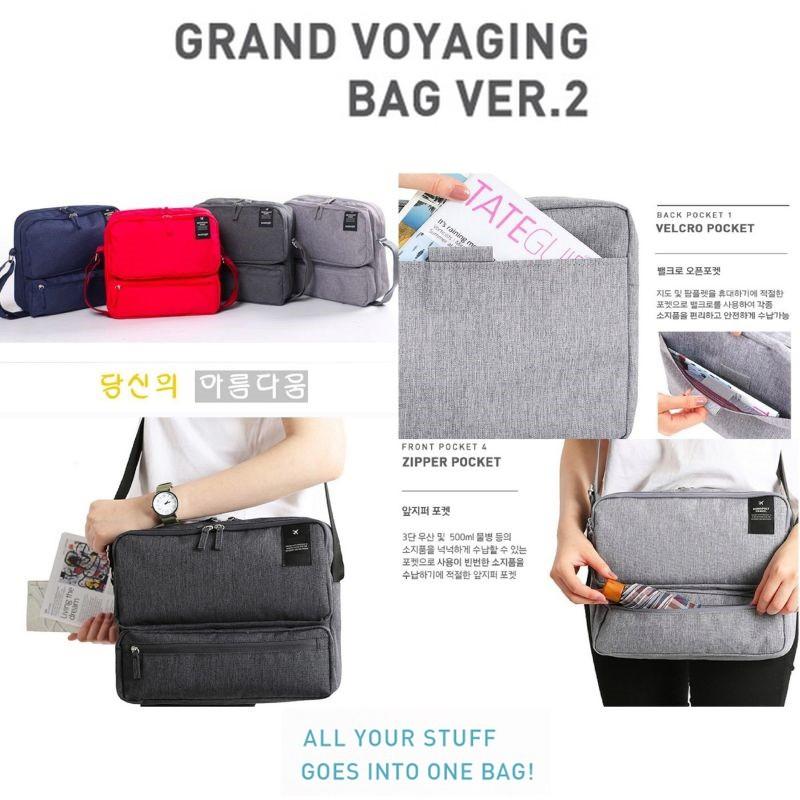 Korean Grand Voyaging Bag ver 2   Tas Selempang Multi Compartment ... 3943e933fb
