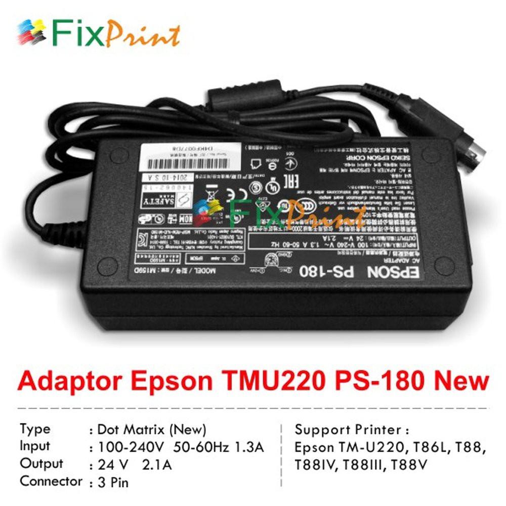Adaptor Printer Epson Ps 180 Tmu220 Tmt86l T883 New Power Supply Tm Tmu 220 Tmt81 82 Tmu950 Original U220 T88iii Shopee Indonesia