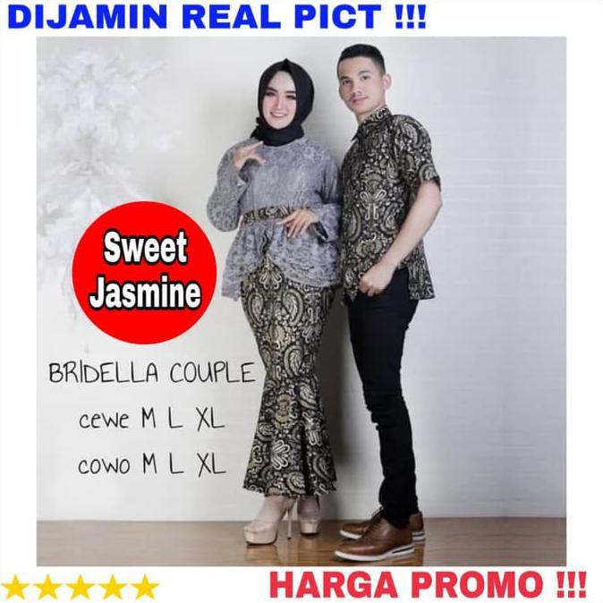 Kebaya Couple Modern Brokat Batik Couple Kebaya Tunangan Acara