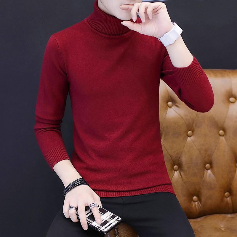 Versi Korea dari sweter rajut leher panjang musim gugur dan jaket pria musim dingin yang mengetuk | Shopee Indonesia