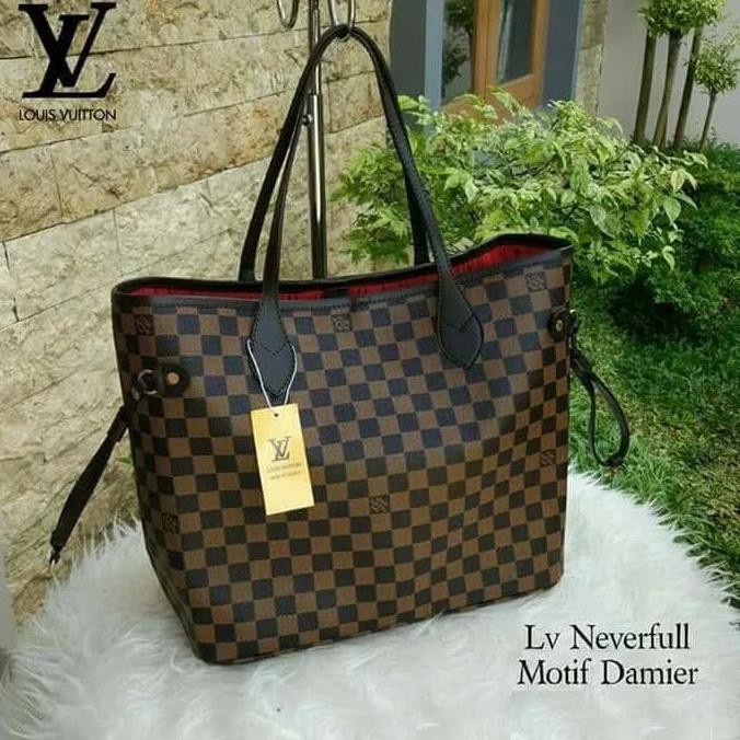 Best Quality Tas Branded Wanita Lv Neverfull Import Handbag Louis Vuitton  Impor - Damier  027be1e282