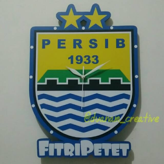 Jam Dinding Kayu klub bola Persib  cd81e27941