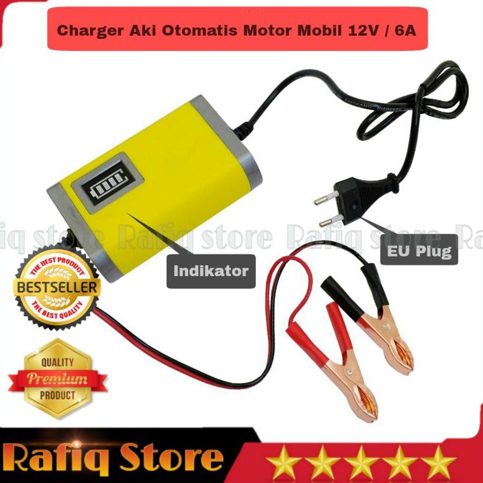 Portable Cas Aki 6a 12v Mobil Battery Charger Motorcycle Car Motor Accu 10a Otomatis Usatbateray Carger Usat 10 A Shopee Indonesia