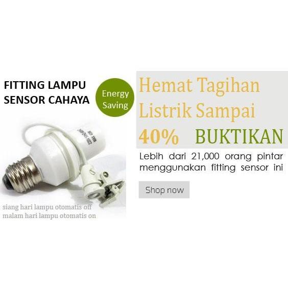 Fitting Lampu Sensor Cahaya Otomatis - Praktis dan Simple | Shopee Indonesia