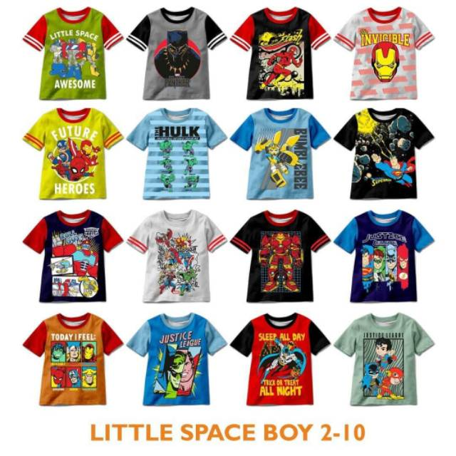Little Space Boys Tee Superheroes