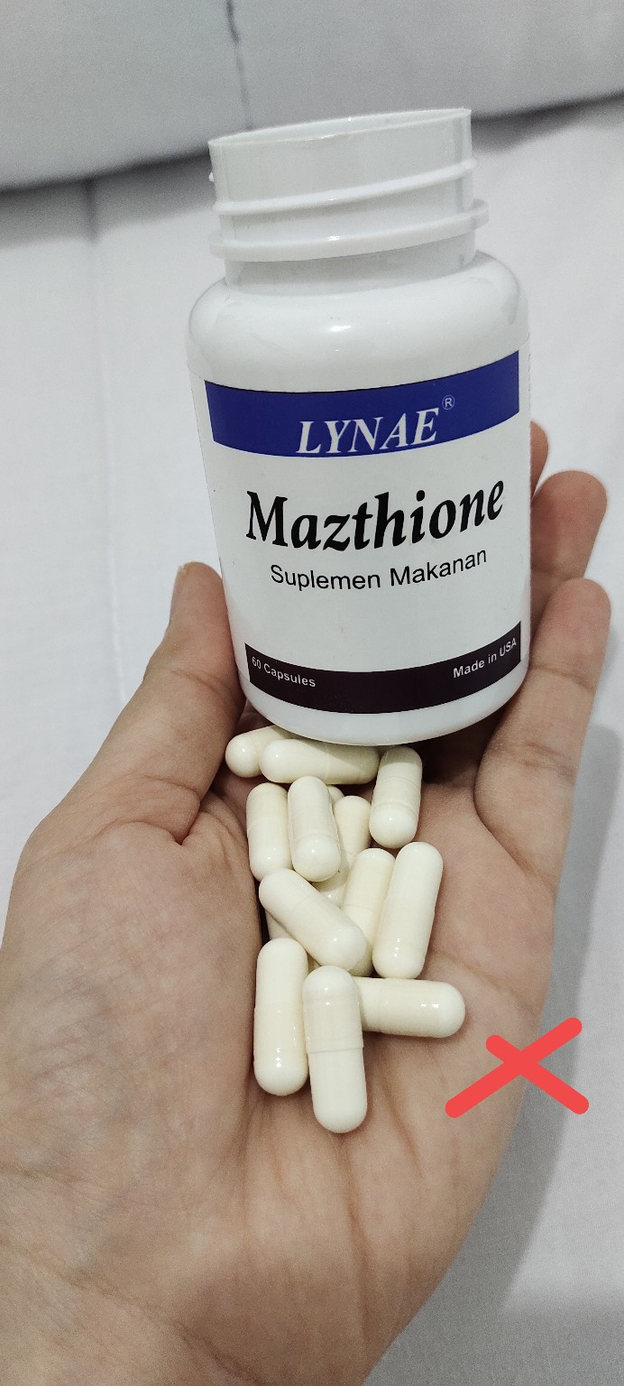 Mazthione Lynae L Glutathione Asli Suplemen Pemutih 100 Original Ampuh Shopee Indonesia