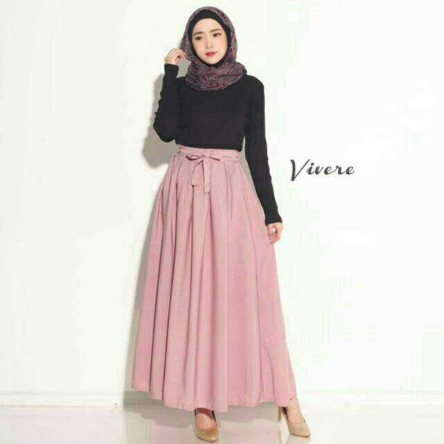 Rok Model A-Line High Waist Lipit Slim Fit Warna Polos untuk Wanita | Shopee Indonesia
