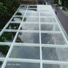 Terlaris - Kanopi Rangka baja ringan atap spandek bening (solarflat)