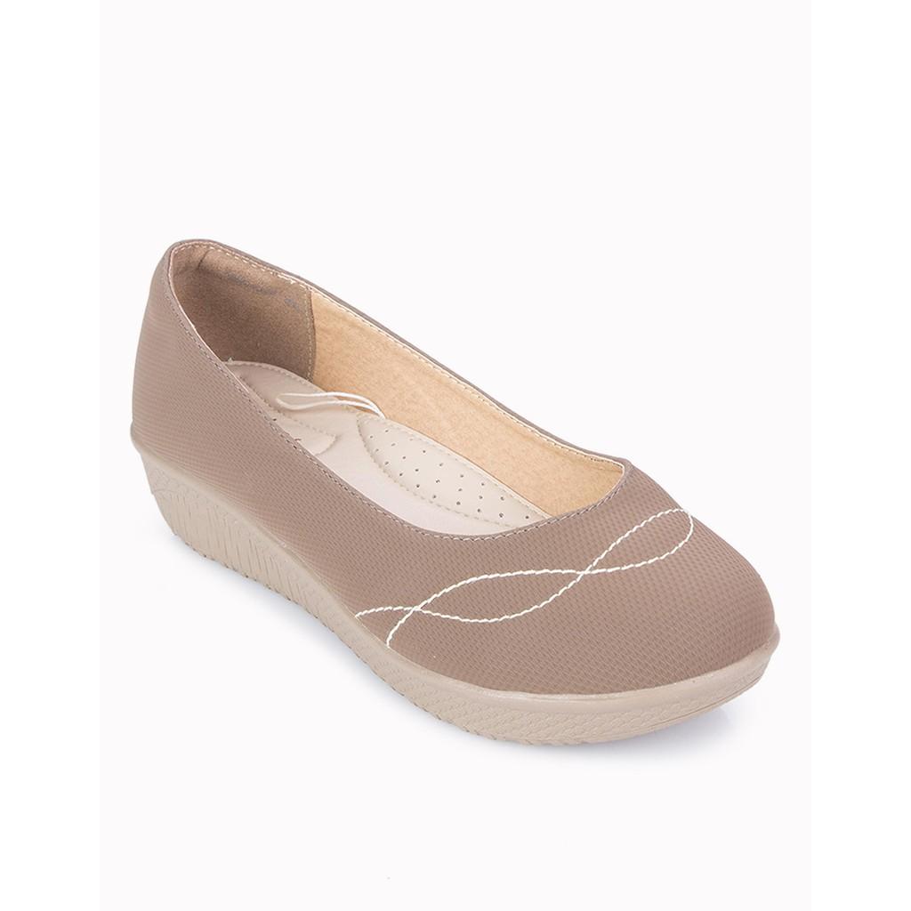 Hello Nuku Panama Mustard Wedges Shopee Indonesia Sydney Grey Glossy Heels Abu Muda 35