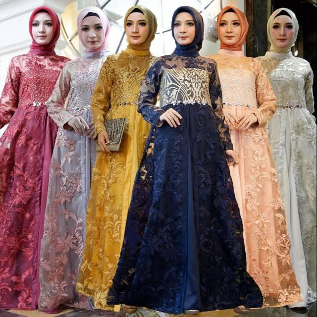 Gamis Pesta Celline Shopee Indonesia