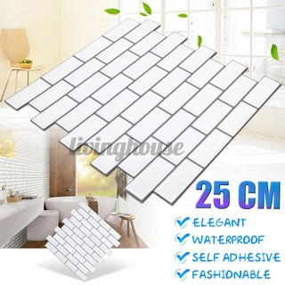 3d Self Adhesive Kitchen Wall Tiles Bathroom Mosaic Tile Sticker Peel Stick Diy Wall Decor Brick Shopee Indonesia