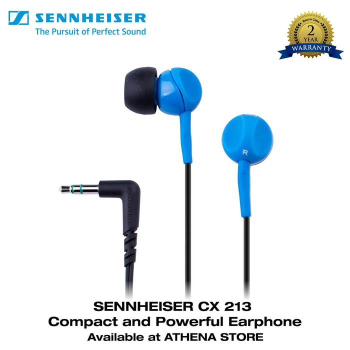 PROMO Sennheiser In Ear Earphone CX213 - Black TERMURAH | Shopee Indonesia