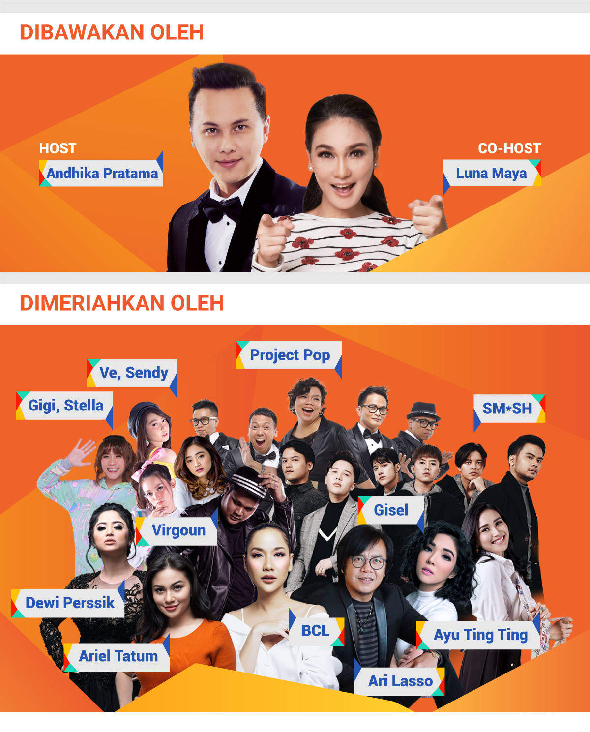 Host dan bintang tamu Shopee Birthday Sale 12.12