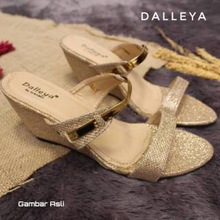 a046d506f33b Lilyshoes HANNA - dalleya sandal wedges wanita real pict casual pesta  cantik termurah